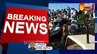 Massive Road Accident In Nalgonda District   Sakshi TV