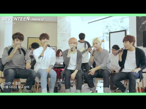 [Engsub] [SEVENTEEN][Vocal Team] Adore U( 아낀다) Acoustic Ver