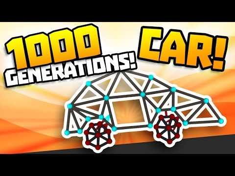 1000 GENERATIONS CAR EVOLVED - Creating a Stair Climber! - Evolution Simulator Gameplay