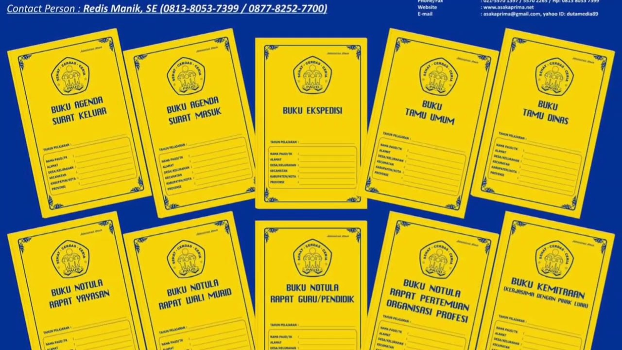 Jual Buku Administrasi Guru Kelas Sd K13 Revisi 2019 Wa 0877 8252