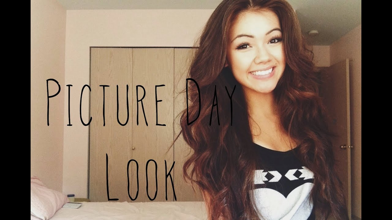 Back To School Picture Day Makeup And Hair Youtube