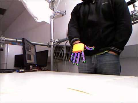 Efficient model-based 3D tracking of hand articulations using Kinect