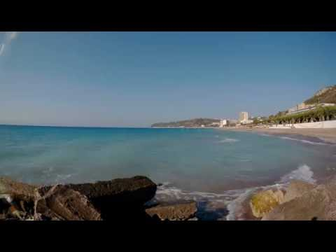 4K Timelapse daytime Ixia beach Rhodes Greece SJCAM SJ5000x Elite