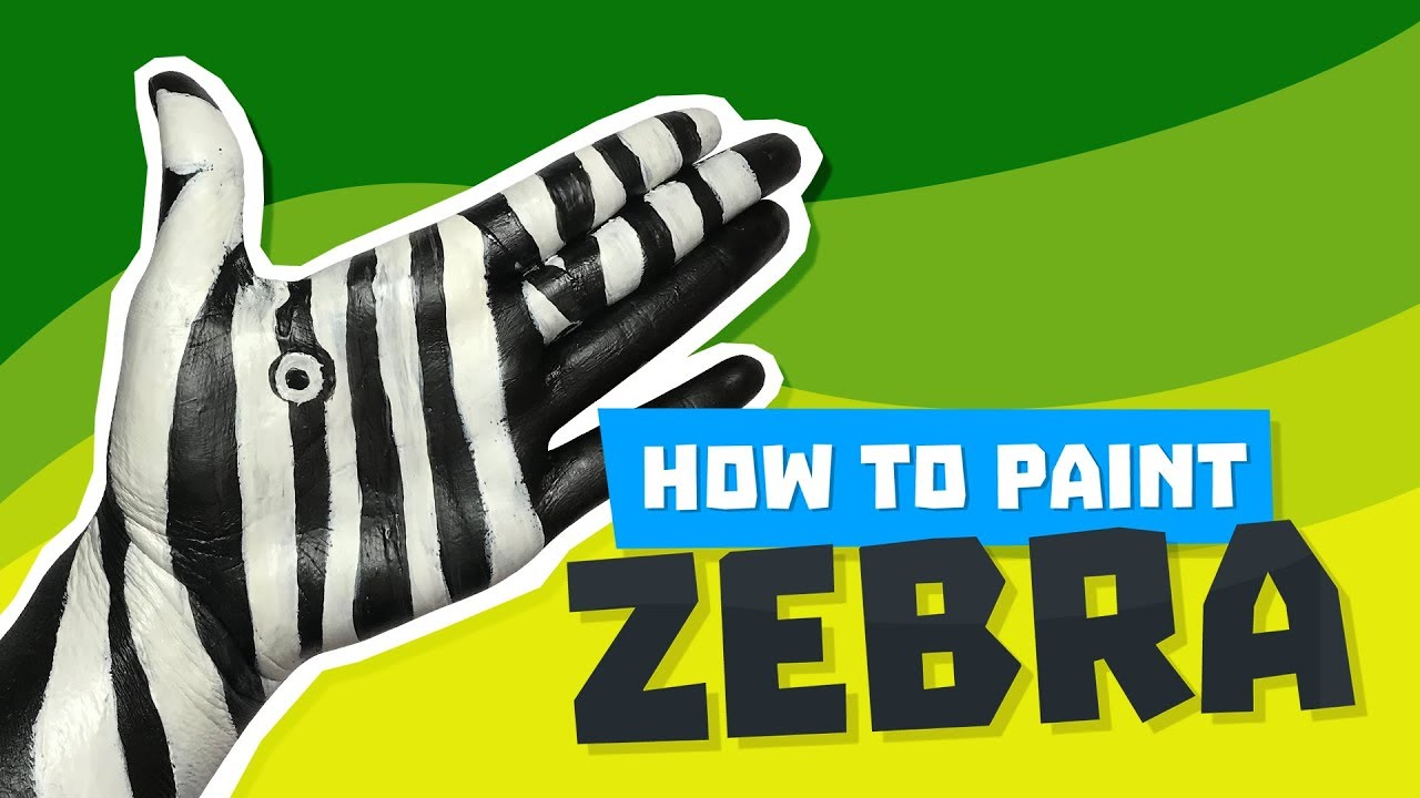 Tutorial: How to paint a Zebra on your hand 💗 Jak namalować Zebrę na ręce 🦓