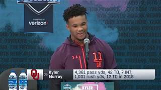 Kyler Murray Explains Why He Won't Participate in Drills at 2019 Combine