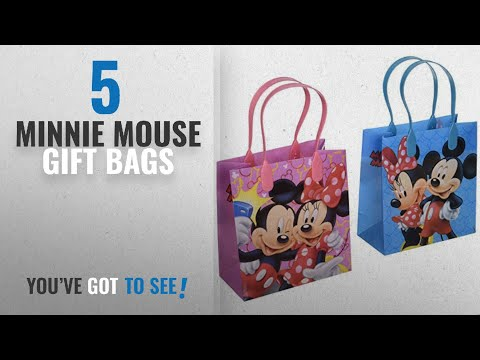 Top 10 Minnie Mouse Gift Bags [2018]: Disney Mickey and Minnie Mouse Character 12 Premium Quality