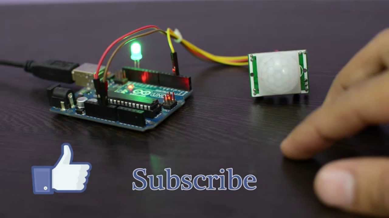 Pir Motion Sensor With Arduino Youtube Diagram
