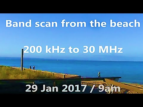HF band scan from the beach near Melbourne Australia (29/1/2017)