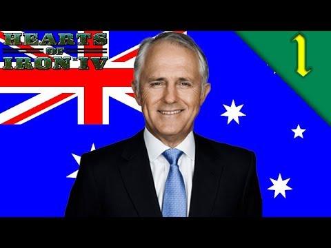 AUSTRALIA WAR WITH NEW ZEALAND! Hearts of Iron 4: Modern Day Mod: HOI4 Challenge: Australia #1