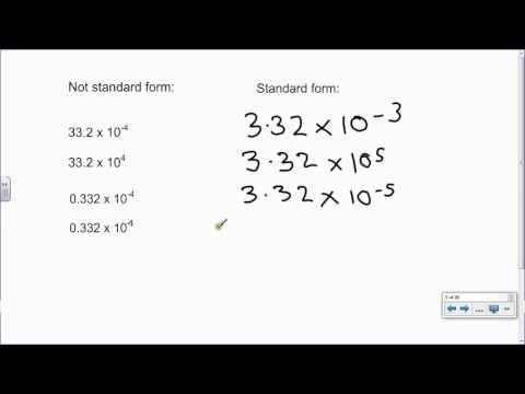 P1 Standard Form 1 Converting Large And Small Numbers Into Standard