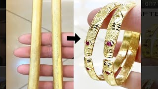 Making Heavy Solid Gold Bangles from 24ct Gold | Jewelry Making | 4K Video | How it's made