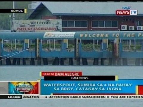 BP: Waterspout, sumira sa 4 na bahay sa Brgy. Catagay sa Jagna, Bohol