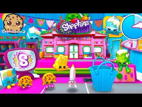 Let's Play Welcome To Shopville Shopkins App Game - Small Mart Shopping Bag Toss - Cookieswirlc