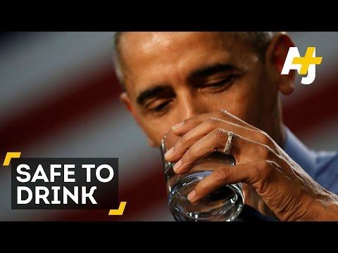 President Obama Drinks Flint Water