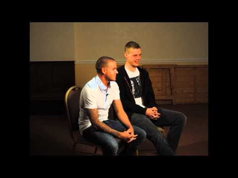 Ryan Shawcross and Michael Kightly at Knypersley Sports Club
