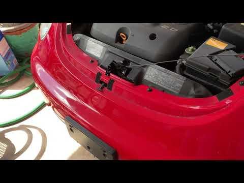 follow up video concerning hood latch on a 1998 Volkswagen beetle broken hood latch