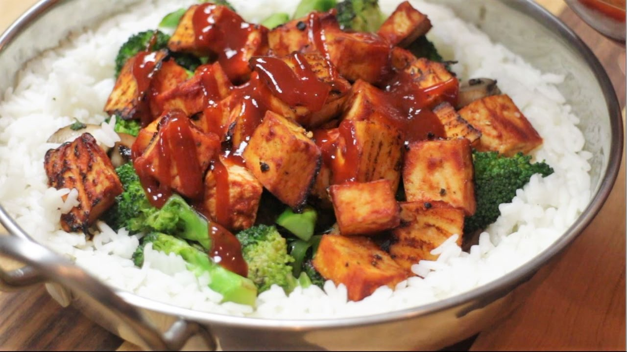 Spicy Asian Fire Roasted Tofu! [vegan]