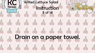 Wilted Lettuce Salad - Kitchen Cat