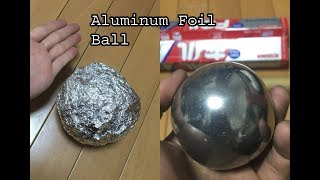 Make a Soled Aluminum Ball with aluminum paper at home, step by step