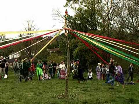 Beltane Maypole Dance Glastonbury 2009 Youtube