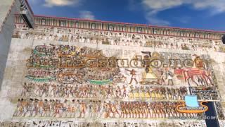 Fresque de la Bataille du Nil. Les Peuples de la Mer