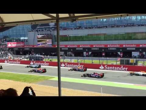 Formula 1 British Grand Prix 2013 Silverstone race start