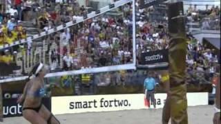Пляжный волейбол Чемпионат мира 2011 Финал Женщины(Пляжный волейбол Чемпионат мира 2011 Италия Рим Финал Женщины США - Бразилия Комментатор: Григорий Твалтвадз..., 2011-08-01T12:34:27.000Z)
