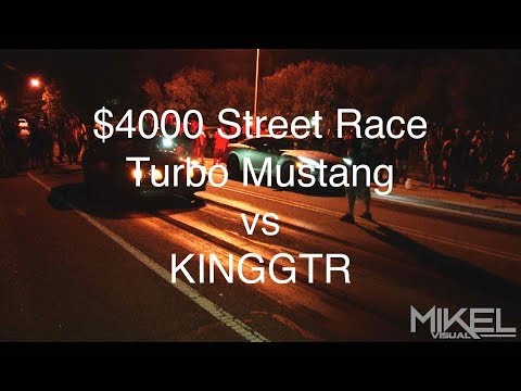 Big Money Street Race - Turbo Mustang Vs KINGGTR