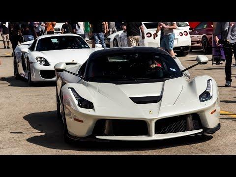 Hypercars Go Head to Head on the Drag Strip! Laferrari vs. 918 - TX2K18 Day 3