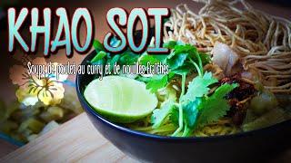 Khao Soi - Soupe de poulet au curry et aux nouilles fraîches - Le Riz Jaune