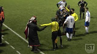 INSANE GAME!!! REF SURROUNDED, 5 RED CARDS, PUNCHES THROWN, REVENGE FOULS & CRAZY ENDING!!!