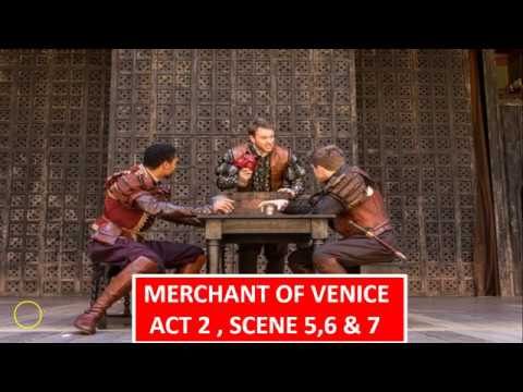 Merchant of Venice - Act 2 , Scene 5,6 & 7