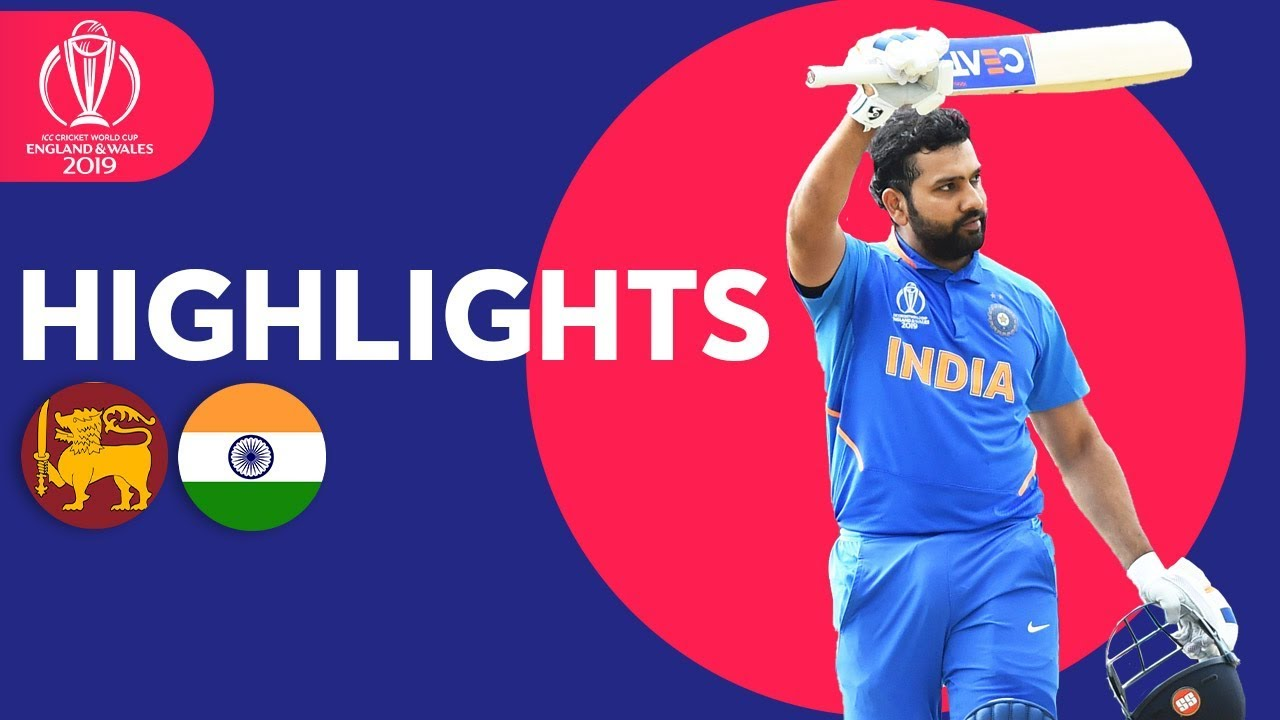 Rohit Breaks Centuries Record In Win | Sri Lanka vs India - Highlights | ICC Cricket World Cup 2019