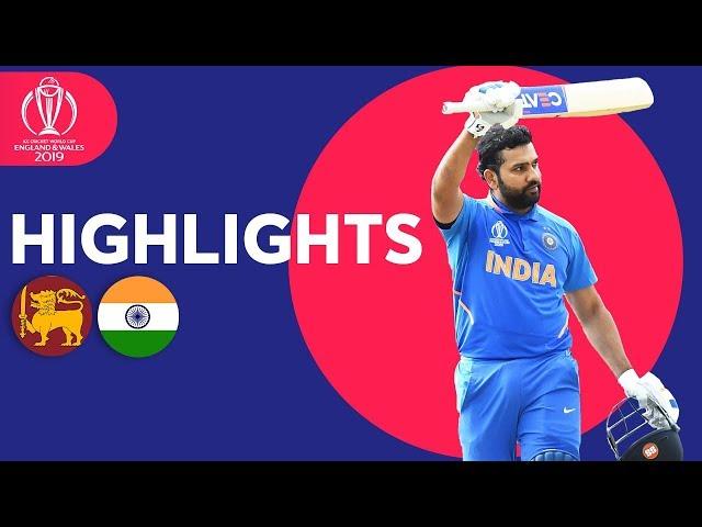 Rohit Breaks Centuries Record In Win | Sri Lanka vs India - Highlights | ICC Cricket World Cup 2019