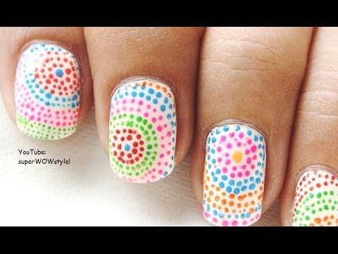 toothpick nail art design easy