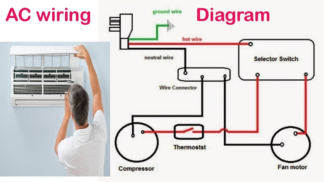 air conditioning circuit diagram bangladeshi maintenance work in rh youtube com