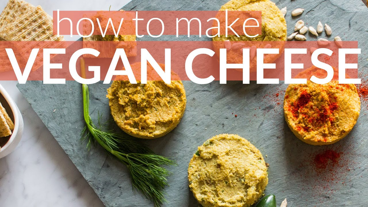 How to Make Vegan Cheese | Sunflower Seed Base with 4 tasty flavors
