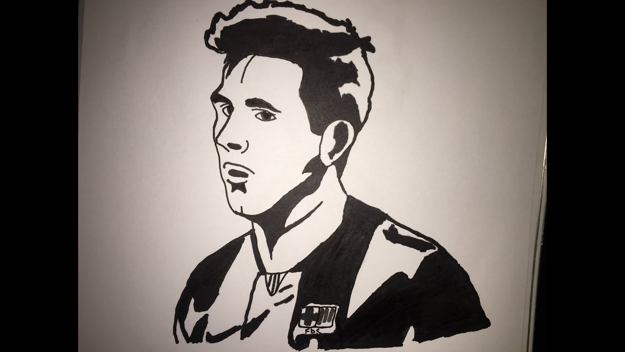 Easy Drawing Ronaldo Drawing Sketch And Painting