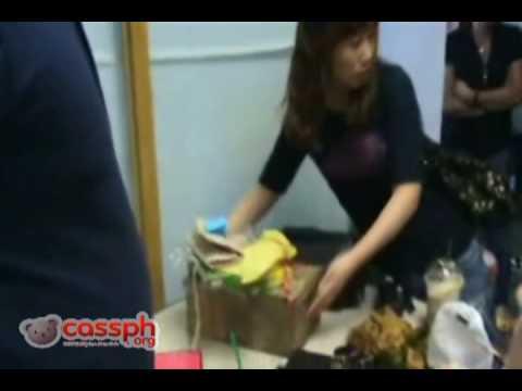 [Fancam] Dara (2NE1) In Manila - Post Myx Live Chat