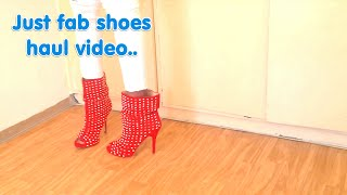 JUST FAB SHOES HAUL VIDEO.. | justfab.de