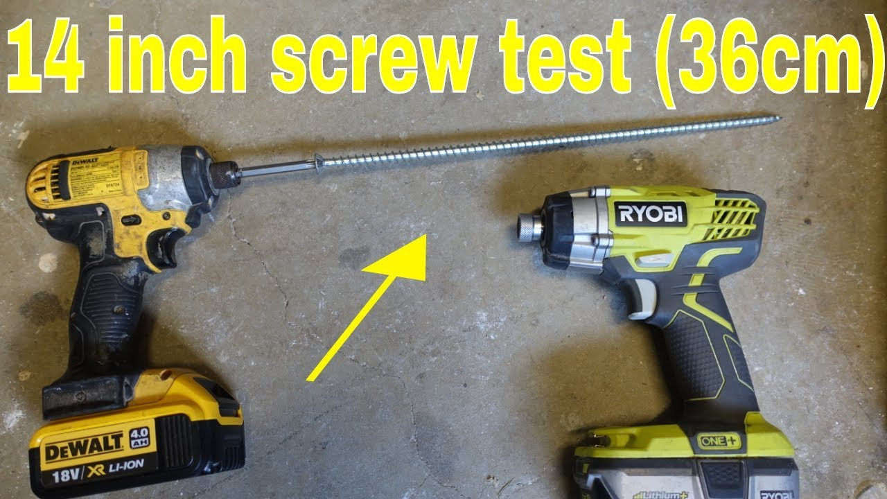 Ryobi One Vs Dewalt Ultimate Test 18v Impact Driver Challenge