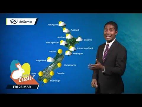 MetService Easter Weekend Forecast