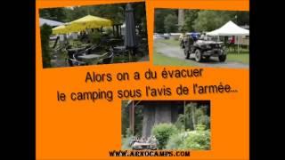innondation sur la semois , evacuation militaire au camping