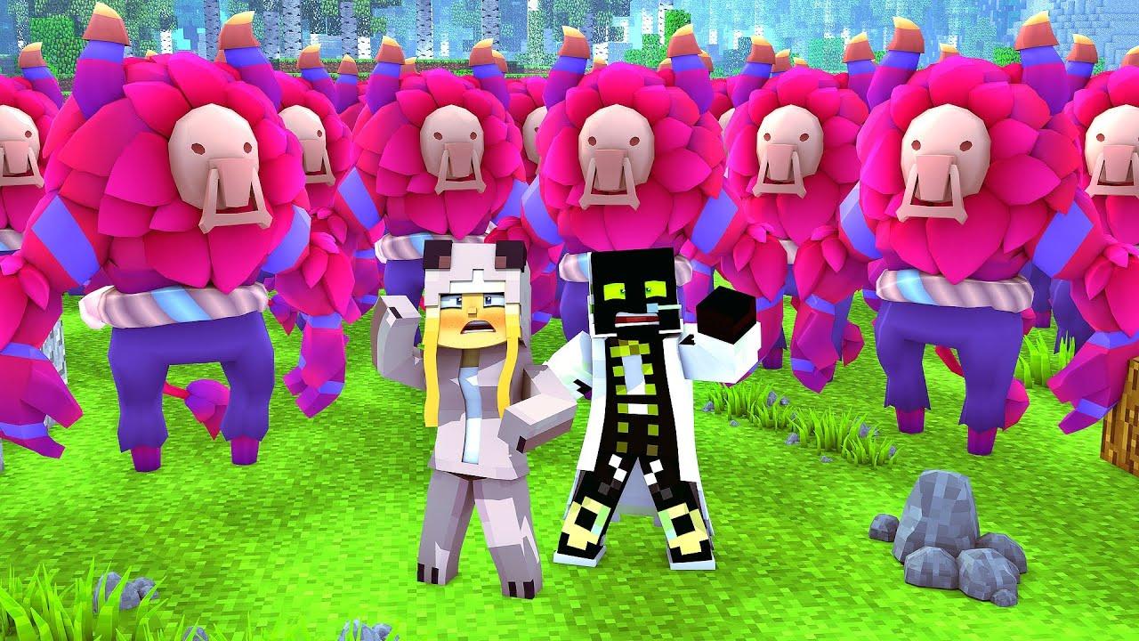 Roman Isy Vs 1000000 Aliens Minecraft Deutschhd Youtube