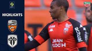 FC LORIENT - ANGERS SCO (2 - 0) - Highlights - (FCL - SCO) / 2020-2021