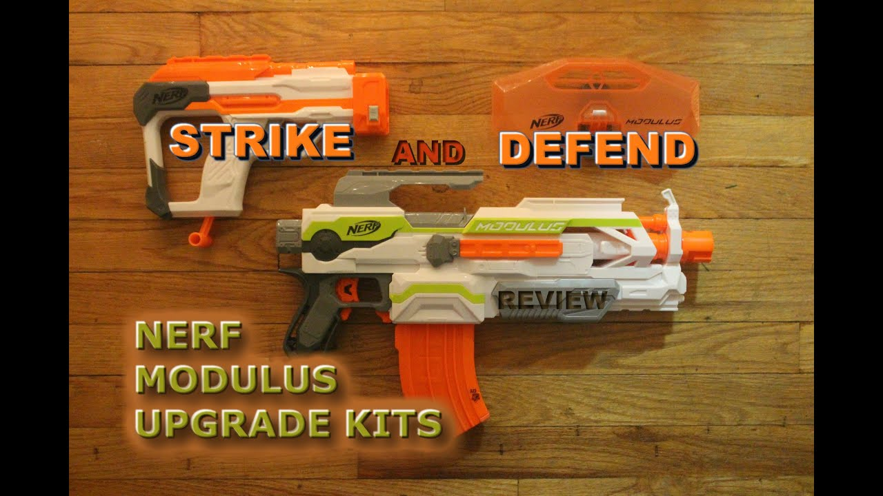 [REVIEW] Nerf Modulus Kits Strike and Defend Upgrade Kit Unboxing Review and Firing Test