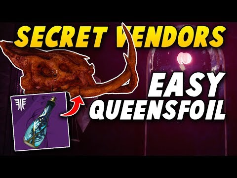 SECRET QUEENSFOIL VENDOR! - How to Easily Get Tinctures of Queensfoil! (Destiny 2 Forsaken)
