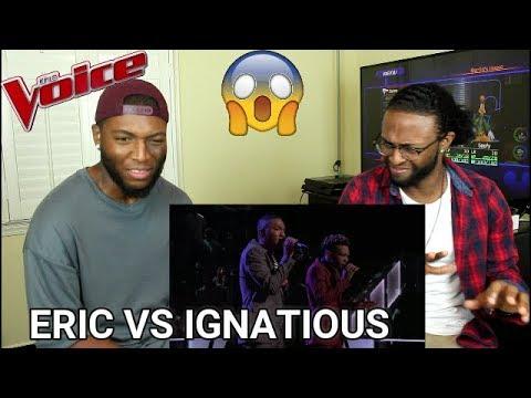 "The Voice 2017 Battle - Eric Lyn vs. Ignatious Carmouche: ""Unaware"" (REACTION)"