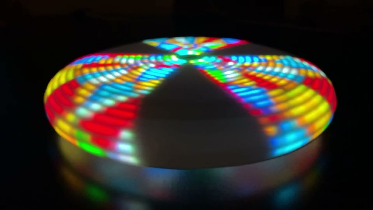 Ignis Pixel LED Flying Disc for Ultimate Frisbee sports - rotating