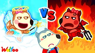 Wolfoo!!! Baby Lucy is Angel or Demon - Kids Stories About Baby | Wolfoo Family Kids Cartoon